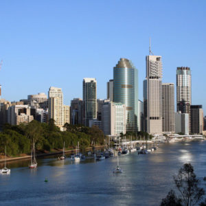 Brisbane skyline and river