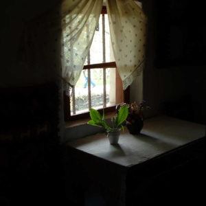 window in a country house