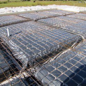 foundation preparation before concrete pour.
