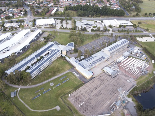 Aerial view of CSIRO Newcastle site